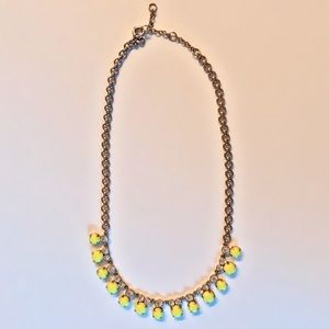 J.Crew Neon and Crystal Statement Necklace